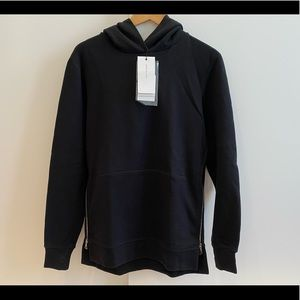 John Elliot Black Hoodie with Side Zippers